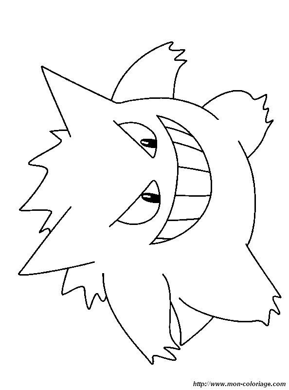 Coloriage De Pokémon Dessin Coloriage Pokemon Ectoplasma à Colorier