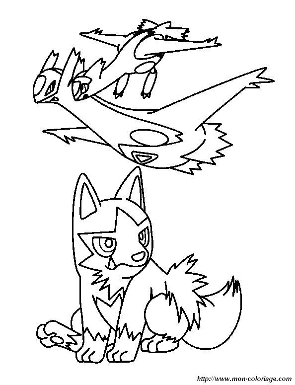 coloriage de pok u00e9mon  dessin coloriage pokemon latias