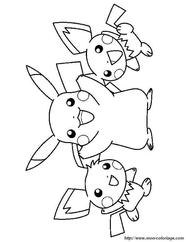 Coloriage De Pokémon Dessin Coloriage Pokemon Pichu Pikachu