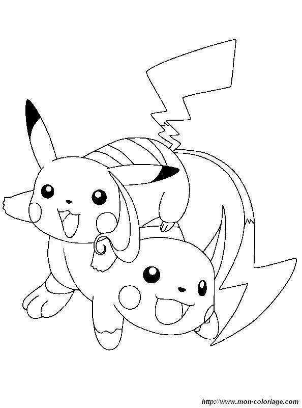 Coloriage de Pokémon, dessin coloriage pokemon raichu ...