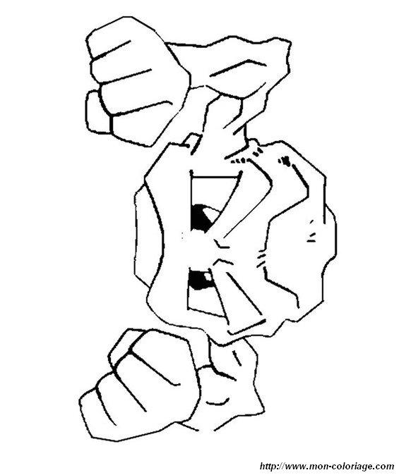 coloriage de pokémon dessin racaillou à colorier
