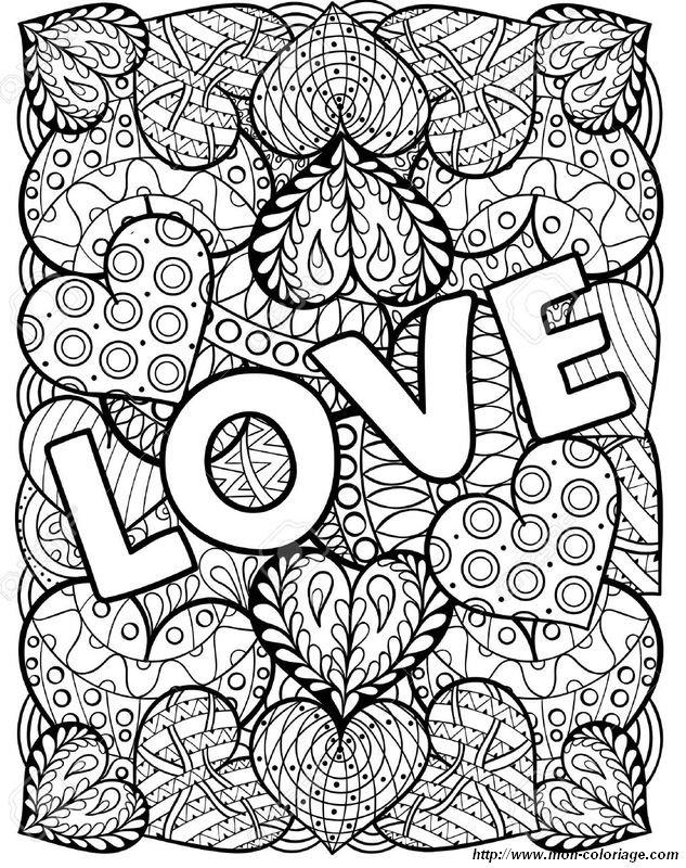 saint valentin pour les jolis amoureux - Coloriage Com