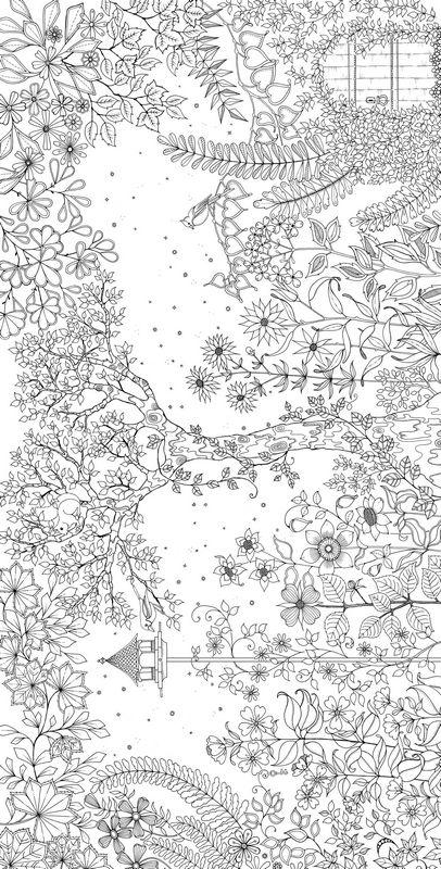 coloriage de pour adultes dessin un jardin magique colorier. Black Bedroom Furniture Sets. Home Design Ideas