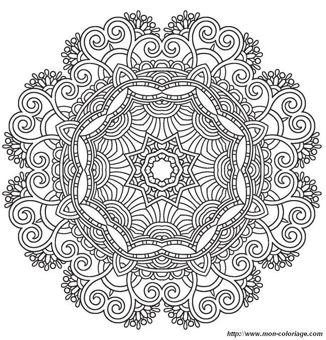 Coloriage De Pour Adultes Dessin Un Mandala Pour Les Adultes Et Les Grands A Colorier