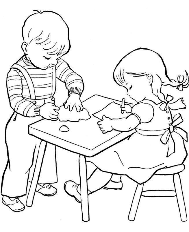 Coloriage de Pour enseignants, dessin Activite manuelle ecole à ...