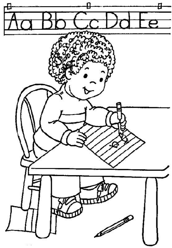 at school children coloring pages - photo#10