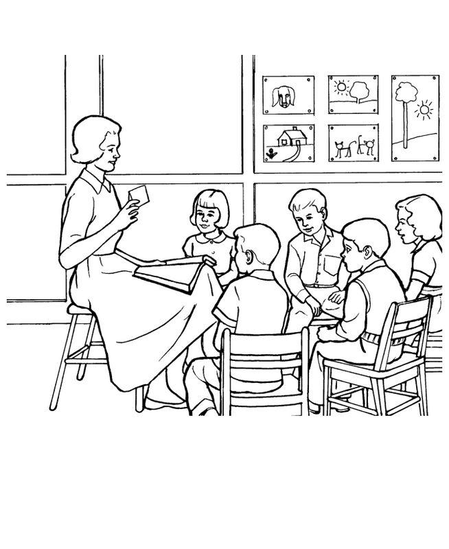Coloriage de pour enseignants dessin la maitresse avec - Coloriage de maitresse ...