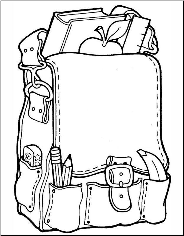 Coloriage de pour enseignants dessin un cartable ou un sac a dos colorier - Cartable a colorier ...