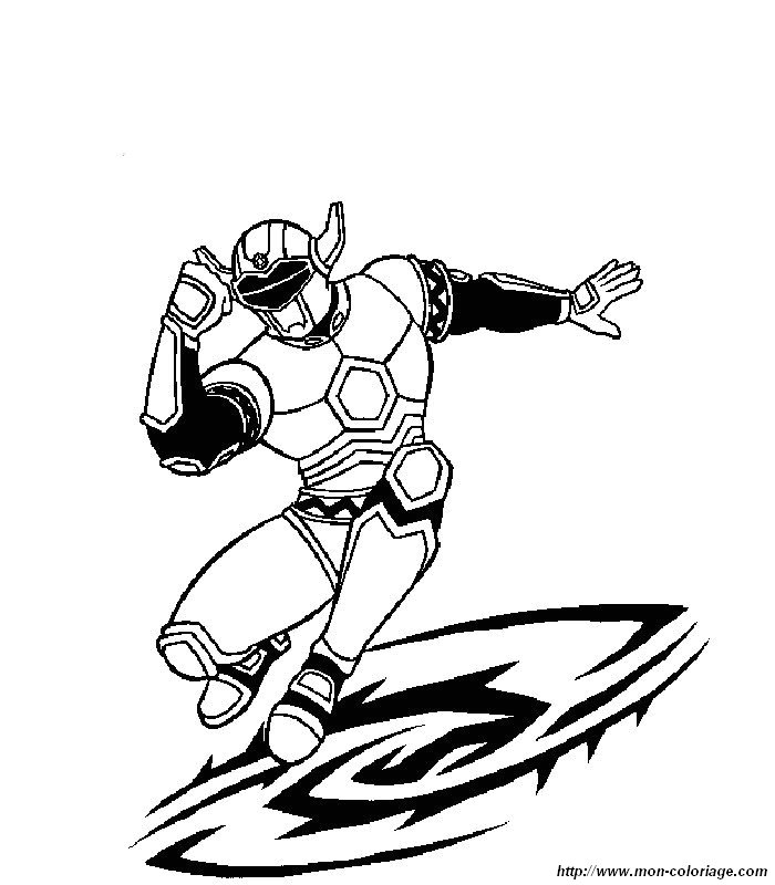 Coloriage de power ranger dessin 007 colorier - Power rangers samurai dessin ...