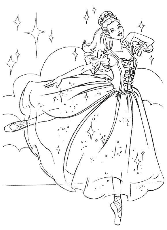 Coloriage Princesse Danse.Coloriage De Princesse Et Prince Dessin Barbie Danse Comme Une