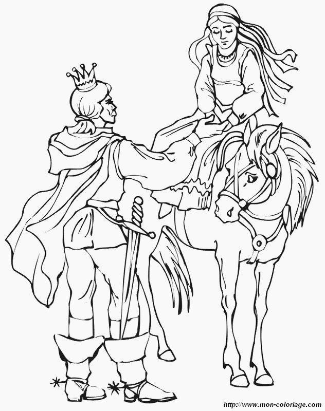 Coloriage De Princesse Et Prince Dessin Prince Et Princesse