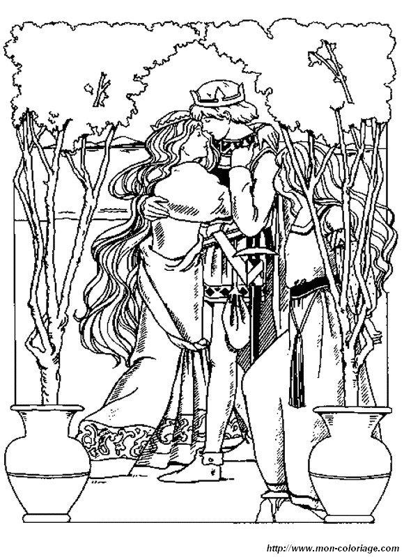Coloriage de princesse et prince dessin princesse et son prince charmant colorier - Prince et princesse dessin ...