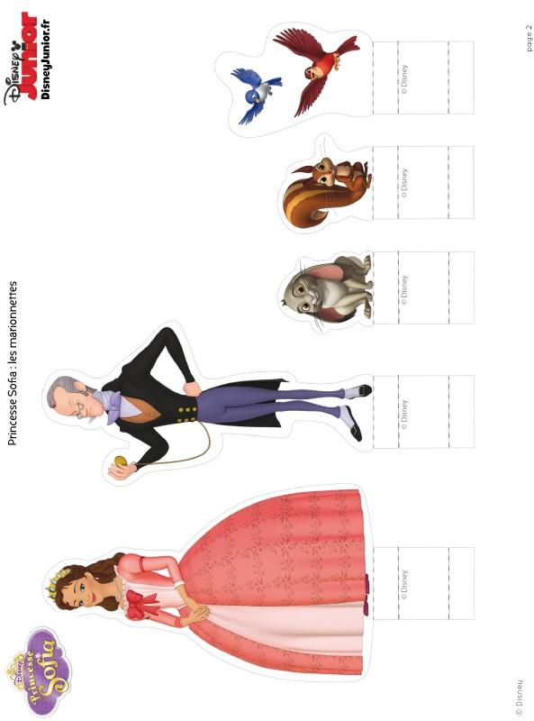 Coloriage de princesse sofia dessin marionnettes - Coloriage princesse ambre ...