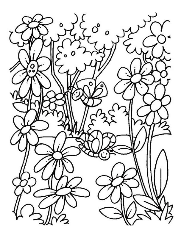 childrens coloring pages summer plants - photo#19