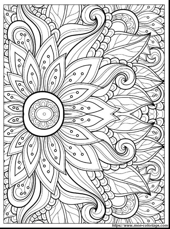 Coloriage De Printemps Dessin Mandala De Printemps A Colorier
