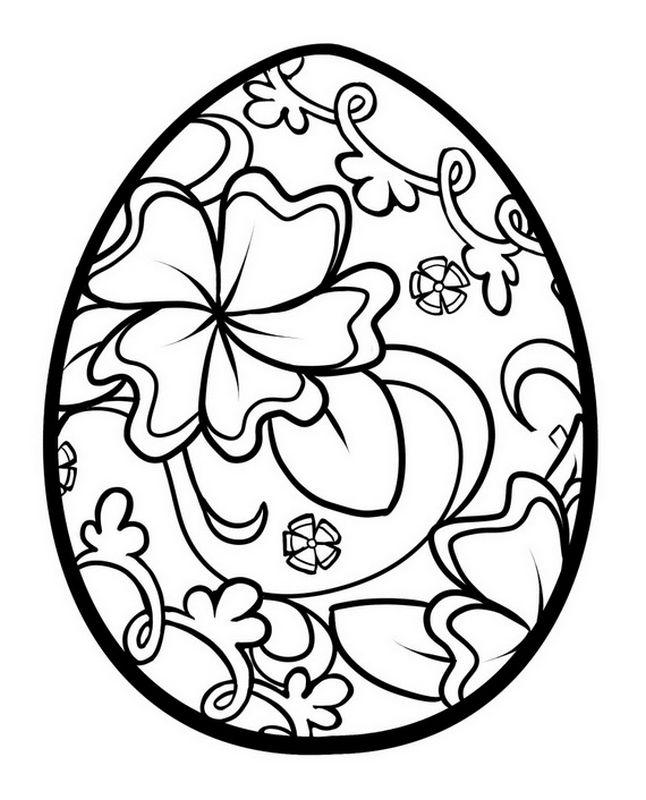 Coloriage de printemps dessin oeuf de paques colorier - Oeuf de paques a colorier ...