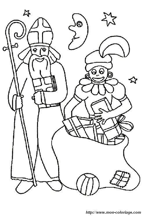 Coloriage de saint nicolas dessin coloriage saint nicolas 12 colorier - Dessin de saint ...