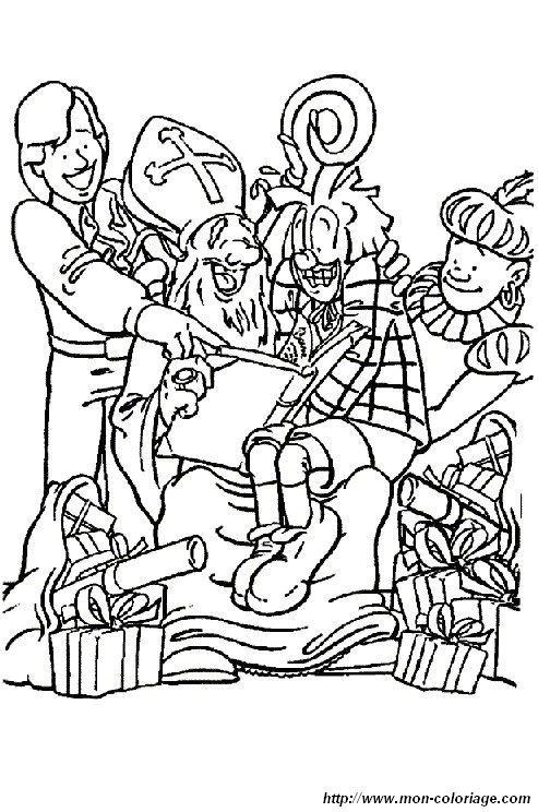 Coloriage De Saint Nicolas Dessin Coloriage Saint Nicolas 15 A Colorier
