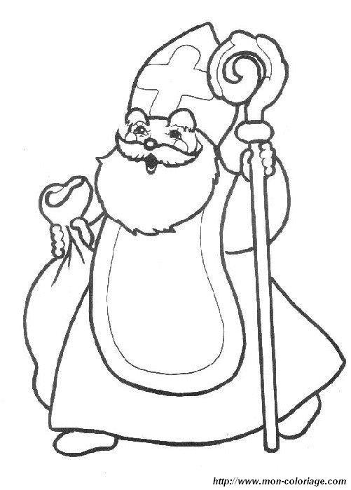 Coloriage de saint nicolas dessin coloriage saint nicolas - Saint nicolas dessin couleur ...