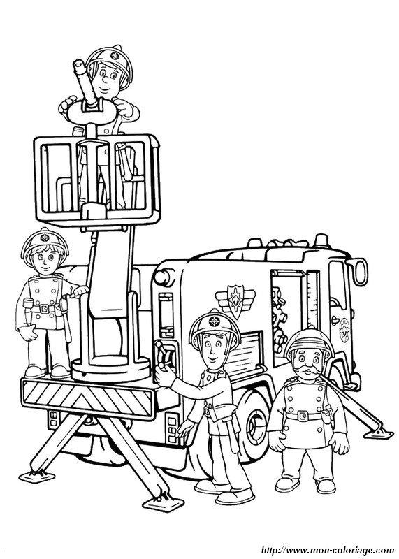 Coloriage De Sam Le Pompier Dessin La Caserne De Pompiers Au