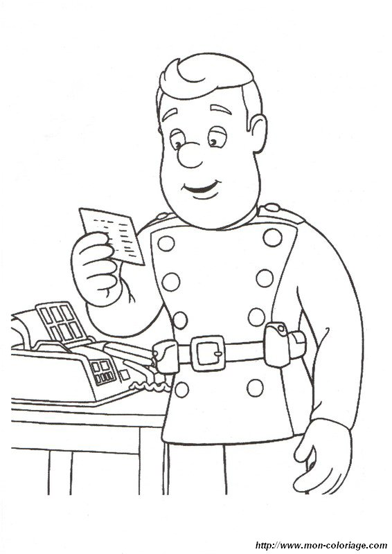 Coloriage De Sam Le Pompier Dessin Vite Une Urgence 224 Fireman Sam Colouring Pages To Print