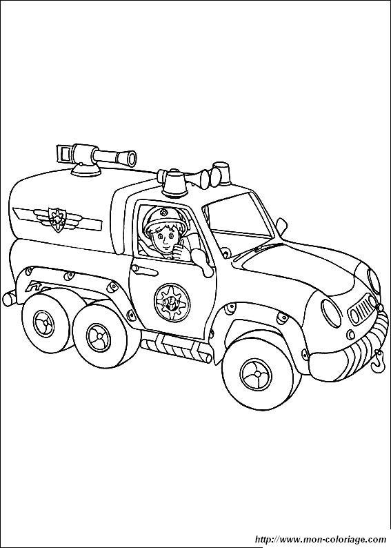 Coloriage de sam le pompier dessin sam 9563 colorier - Coloriage de sam le pompier a imprimer ...