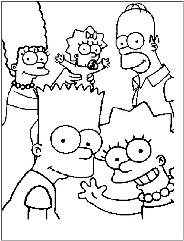 Coloriage de simpsons dessin coloriage de la famille - Simpson a colorier ...