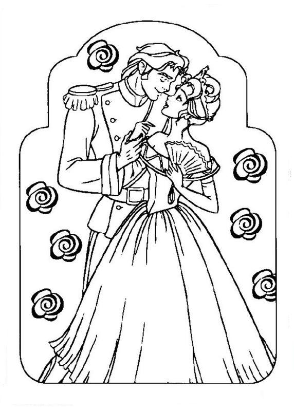 Coloriage de sissi dessin les noces de sissi la princesse for Planimetrie gratuite della casa del campione