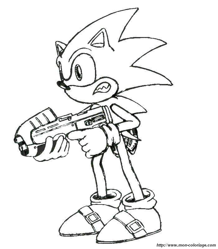 Coloriage De Sonic Dessin 009 224 Colorier
