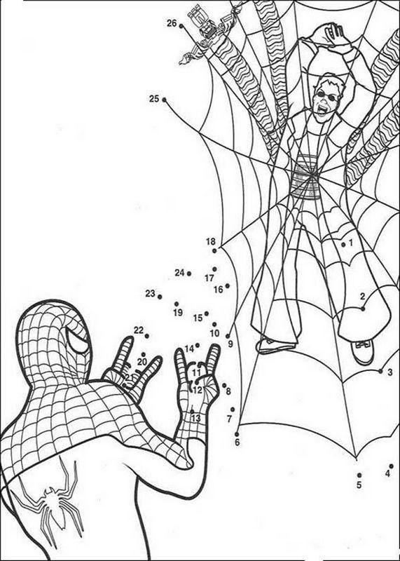 Coloriage De Spiderman Dessin Coloriages Magiques Spiderman A Colorier