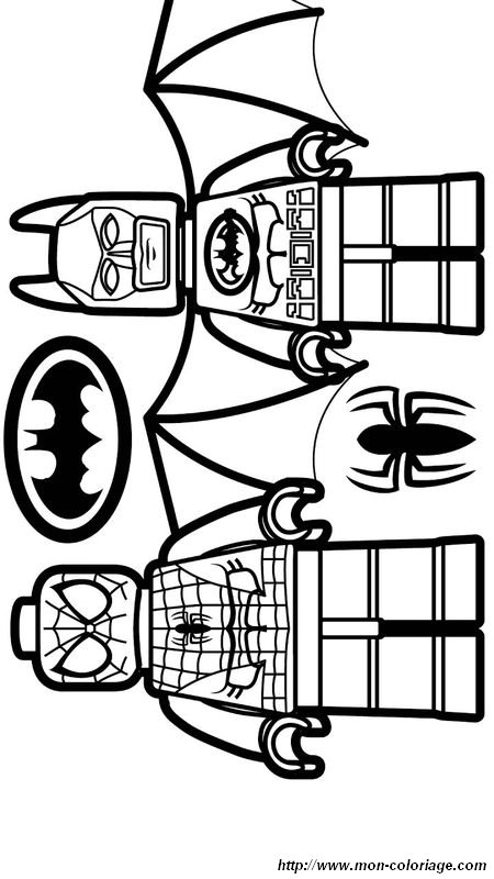 Coloriage De Spiderman Dessin Lego Spiderman Et Batman A Colorier
