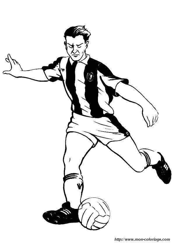 Coloriage de sport dessin tir football colorier for Immagine di un disegno di architetto