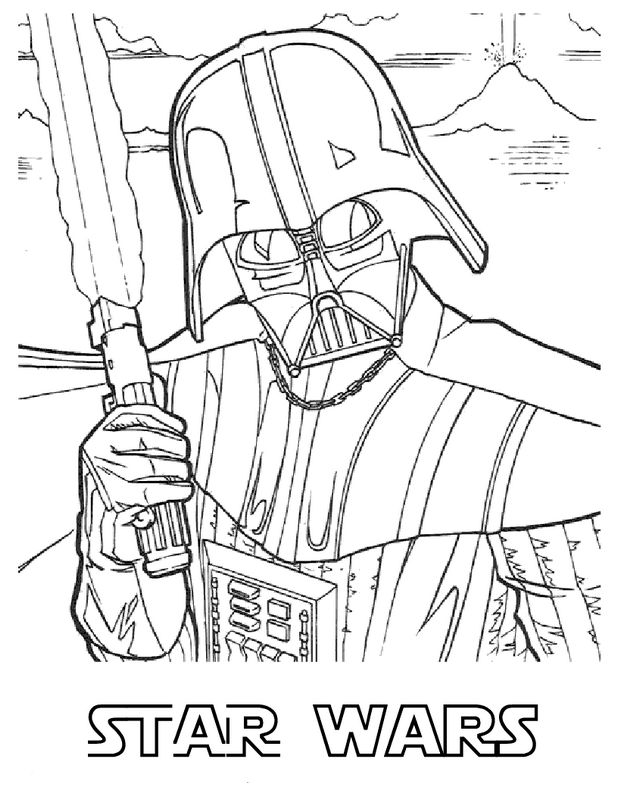Coloriage de star wars dessin le chevalier jedi dark - Dessin de dark vador ...