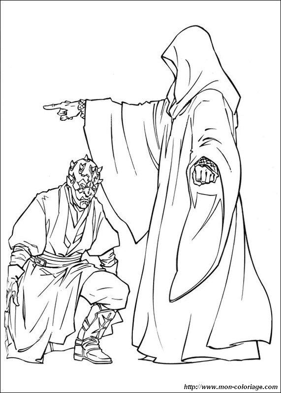 Coloriage De Star Wars Dessin Dark Maul Le Seigneur Sith