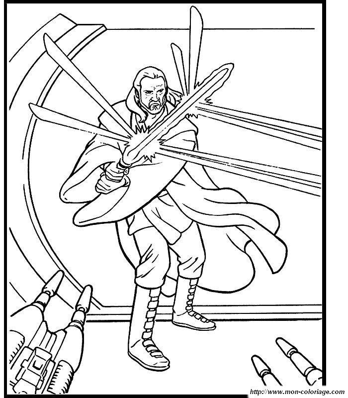 Coloriage de Star wars, dessin imprimer star wars à colorier