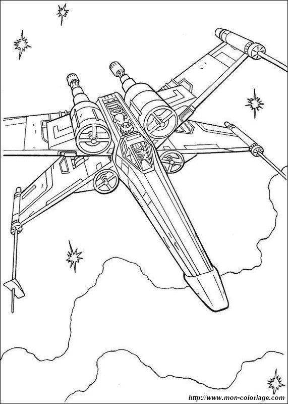 Coloriage de star wars dessin vaisseau spatial de type x wings colorier - Dessin vaisseau spatial ...