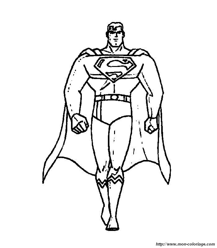 Coloriage de superman dessin 014 colorier - Superman dessin ...