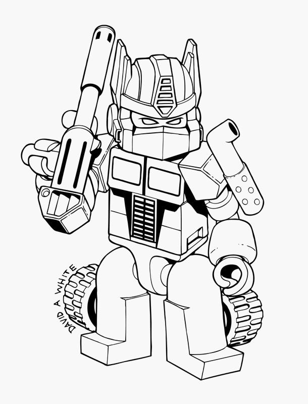 Coloriage de transformer dessin un petit transformers - Coloriage robot dinosaure ...