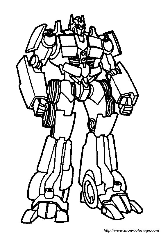 Coloriage de Transformer dessin