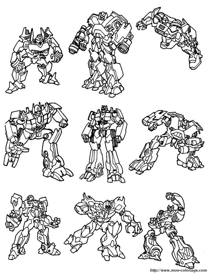 coloriage de transformer  dessin coloriage transformers 17