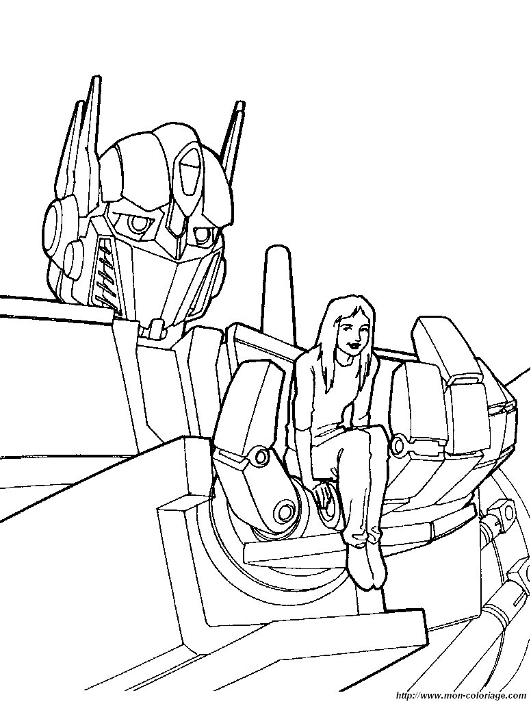 Coloriage de transformer dessin coloriage transformers 3 - Dessin anime transformers ...