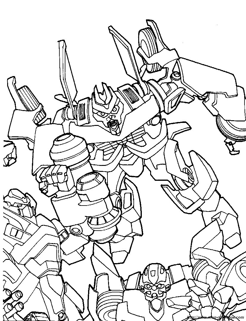 Coloriage De Transformer Dessin Coloriage Transformers 7 A Colorier