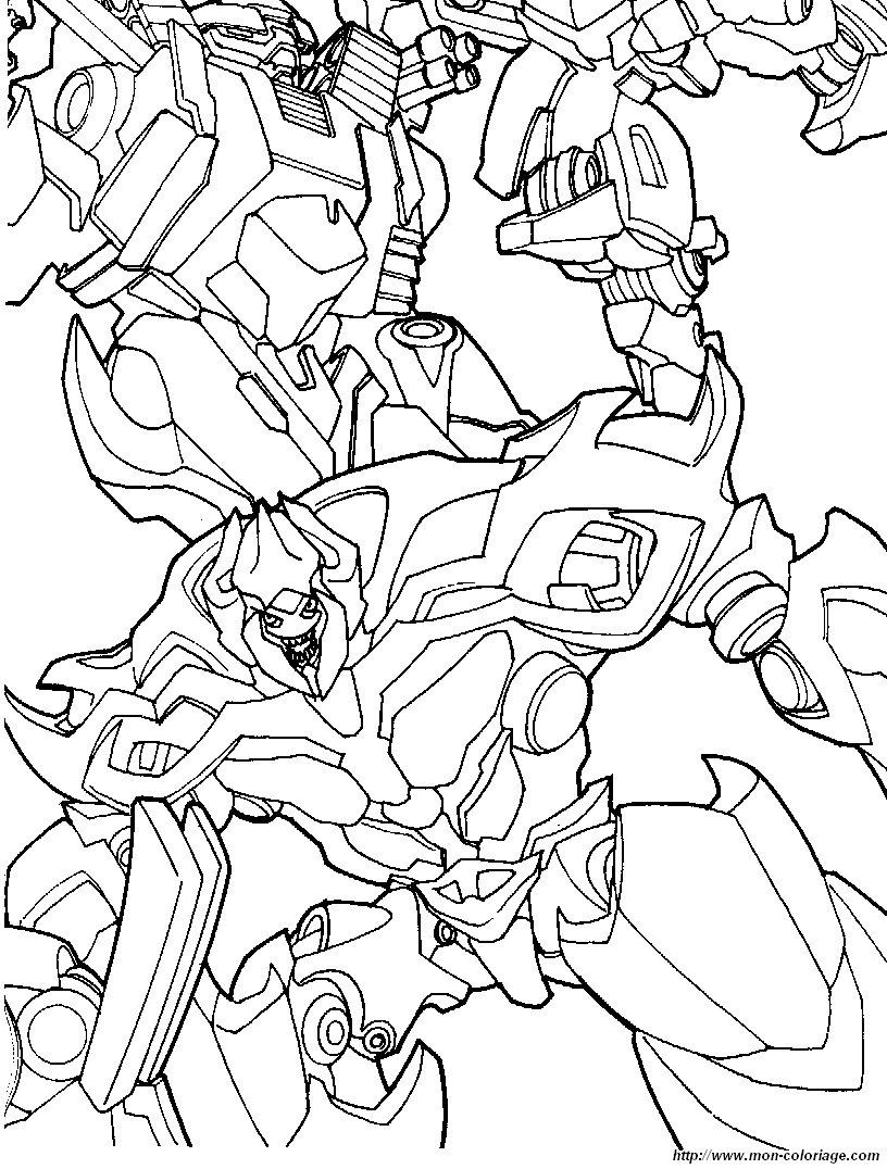 Coloriage de Transformer, dessin coloriage transformers 8 ...