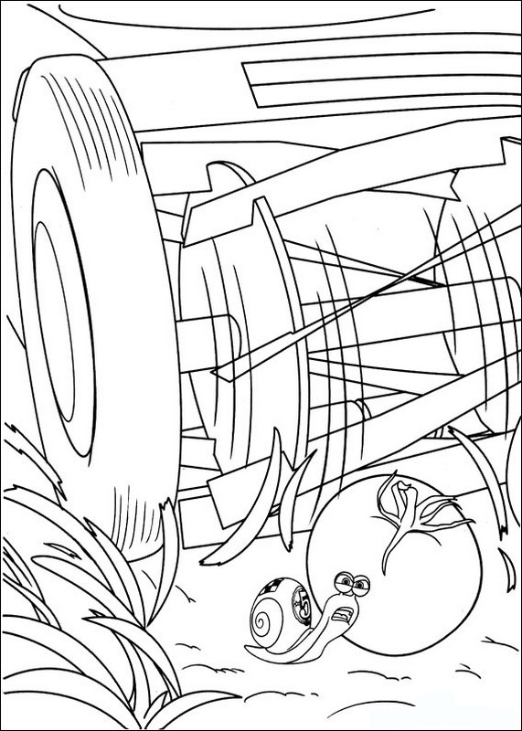 Coloriage de turbo l 39 escargot dessin attention il y a un - Coloriage escargot turbo ...