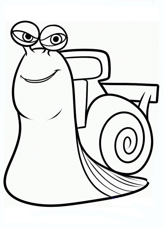 Coloriage de turbo l 39 escargot dessin lui aussi il va vite - Coloriage escargot turbo ...