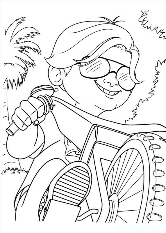 Coloriage De Turbo L Escargot Dessin Son Copain Sur Une