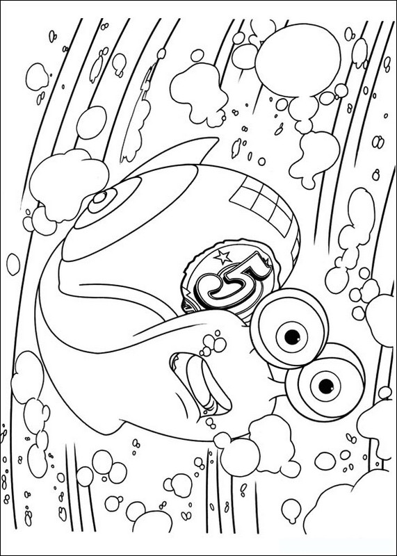 Coloriage de turbo l 39 escargot dessin turbo a quelques - Coloriage escargot turbo ...