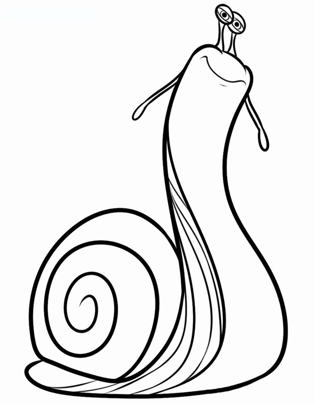 Coloriage de turbo l 39 escargot dessin un escargot assez - Coloriage escargot turbo ...