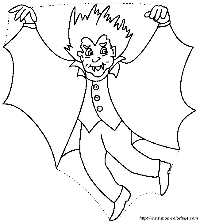 Coloriage de Petits vampires, dessin vampire10 à colorier