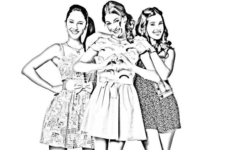 Coloriage De Violetta Dessin Avec Francesca Et Camilla A Colorier